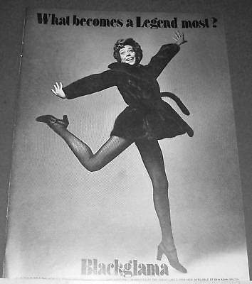 1973 Blackglama fur coat CAROL BURNETT Ad