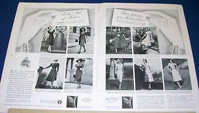 1937 Talon placket fastener zipper dress fashion Ad