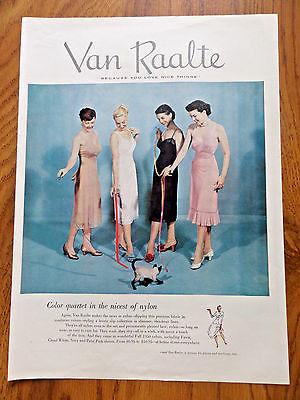 1950 Van Raalte Nylon Slips Ad