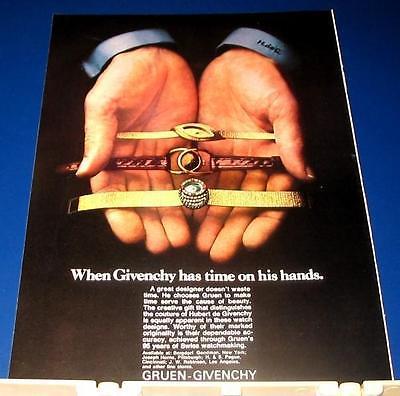 1969 Gruen-Givenchy wrist watch Ad