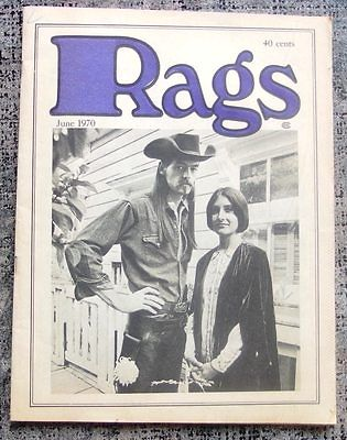 RAGS MAGAZINE #1 June, 1970 Art Fashion FIRST ISSUE San Francisco NICE!
