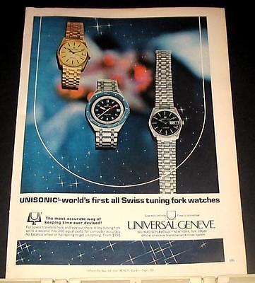 1969 Universal Geneve Unisonic Swiss Watch Ad