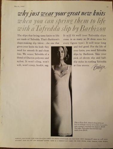 1964 Barbizon Prim Deb Tafretta women's slip lingerie fashion ad