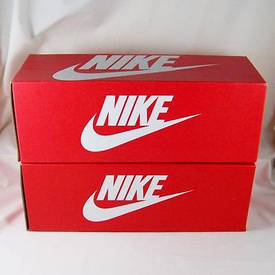 Lot 2 Nike Empty Shoe Boxes Only Red White Swoosh Flex Motion Slide Narrow 13x5