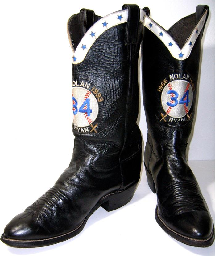 Justin VNTG Size 10 E Fame 1966-1993 Baseball Pitcher 34 Nolan Ryan Cowboy Boots