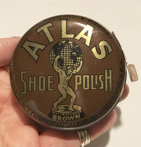 Vintage Atlas Shoe Shine Polish Tin (empty) Advertising