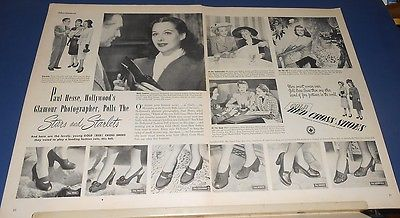 1947 Paul Hesse photographs stars/starlets HEDY LAMARR Red Cross Shoes Ad