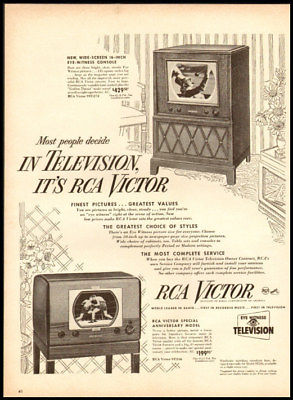 1949 vintage ad for RCA television -171