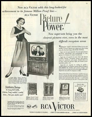 1951 vintage ad for RCA Television