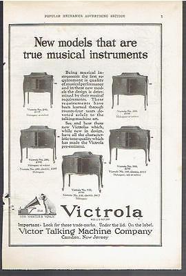 Vintage, Original, 1922 - Victrola Phonograph Advertisement - Record Player