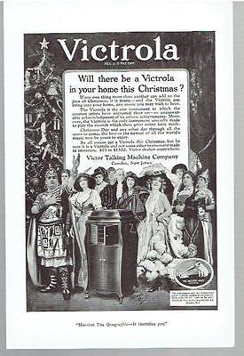 Vintage, Original, 1920 - Victrola Phonograph Advertisement - Record Player