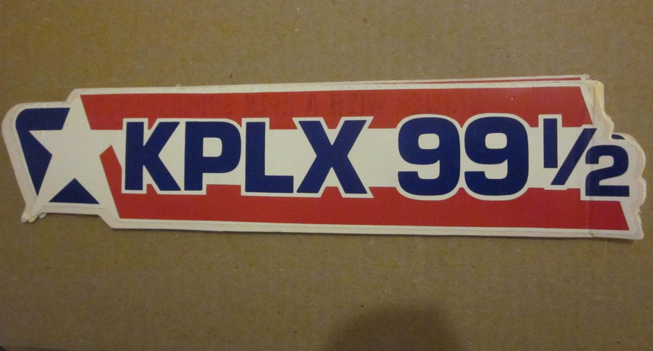 KPLX 99 1/2 FM Radio Station 11.5