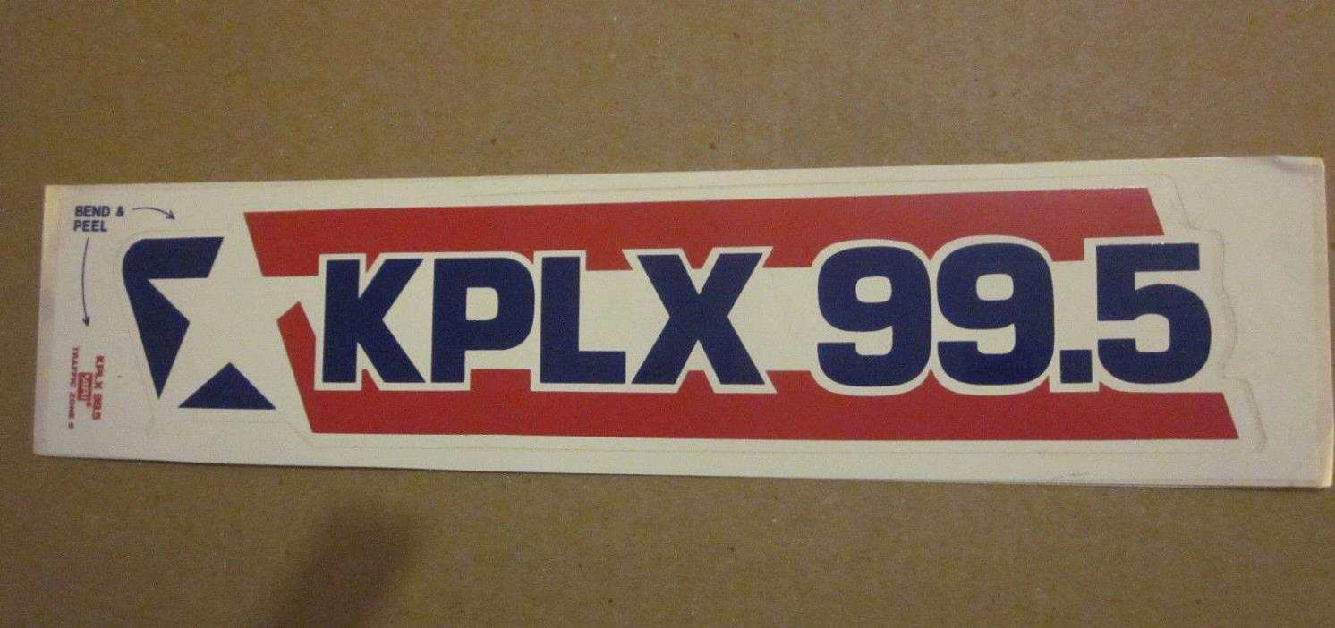 KPLX 99.5 FM Radio Station 11.5