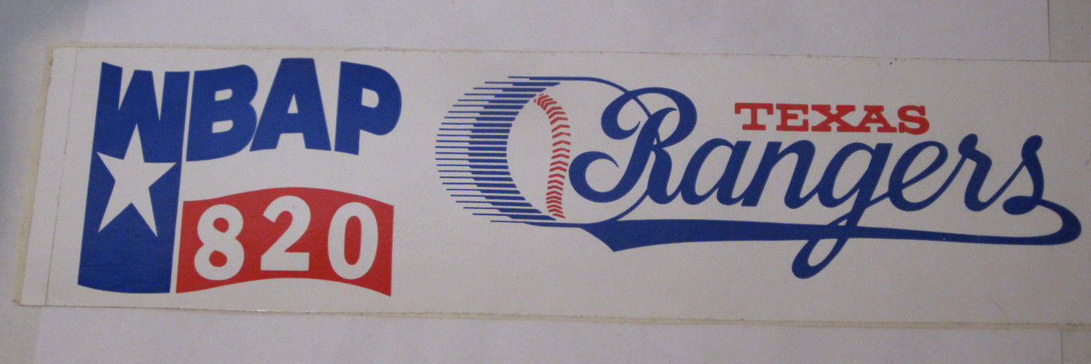 WBAP 820 Radio Texas Rangers 11.5