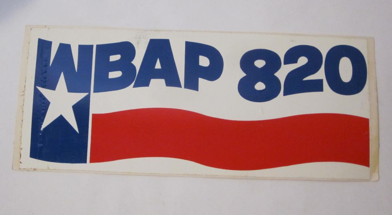 WBAP 820 AM Radio Station 7.5
