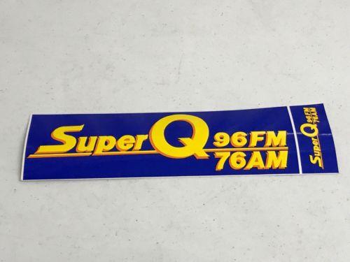 Superior Vintage Radio Station Bumper Sticker Super Q 96 Rock n Roll