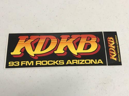 Superior Vintage Radio Station Bumper Sticker KDKB 93 FM Arizona Rock n Roll
