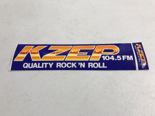 KZEP 104.5 FM Rock n Roll Radio Station Bumper Sticker