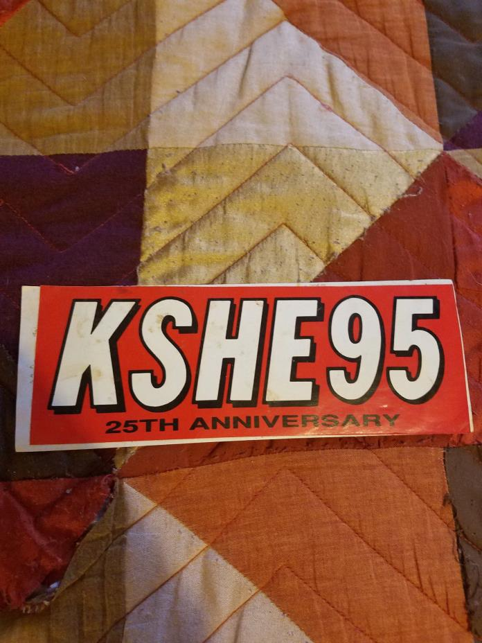 KSHE-95 25th Anniversary Bumper Sticker
