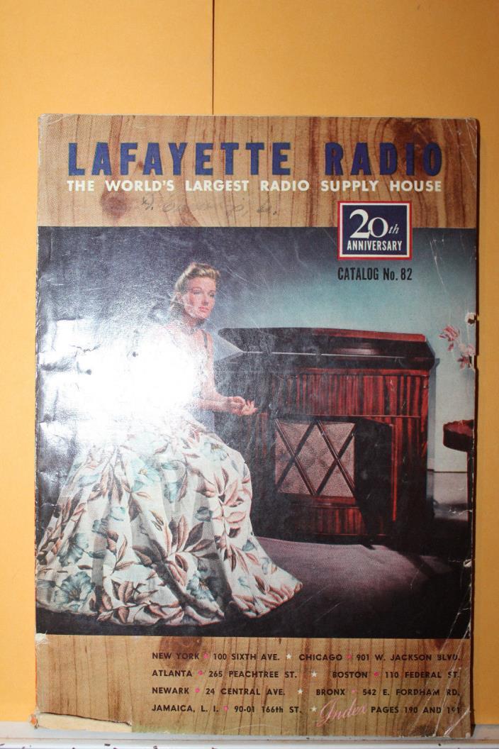 Vintage 1941 Lafayette Radio Catalog 20th Anniversary Rare Radiocorder