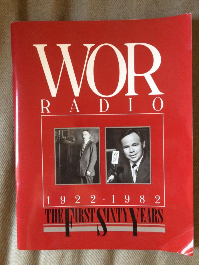 WOR Radio The First Sixty Years 1922-1982  Autographed? Paperbook