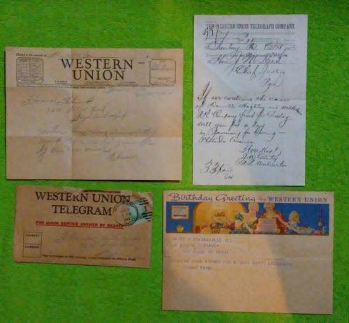 3 Western Union Telegrams 1873-1942