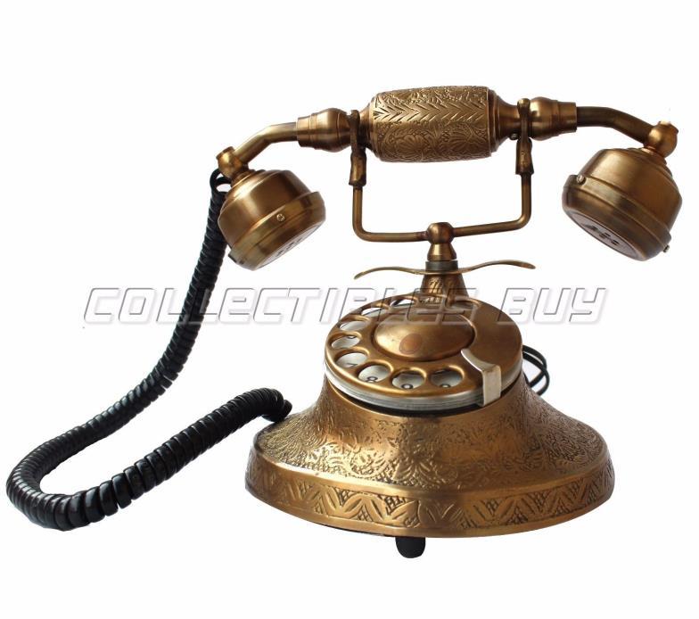Antique Handmade Telephone  Retro Dial Desk Home & Office Desk Article