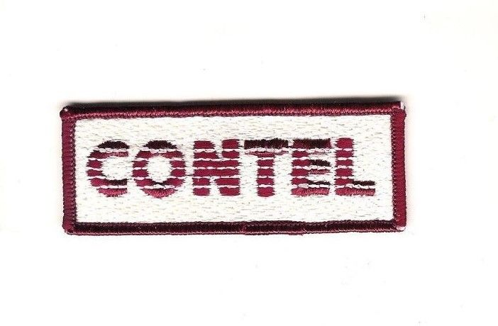 Contel Corporation Patch 1 5/16in x 3 1/2in Continental Telephone