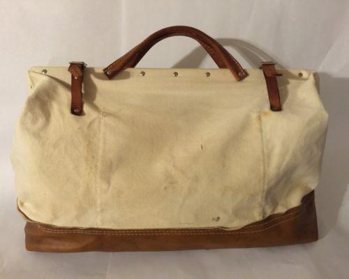 Bell Telephone System Canvas Leather Straps Splicer Lineman Tool Bag Buckingham