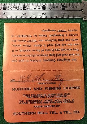 Southern Bell Scarce Collectible - Hunting License Holder - Original Giveaway
