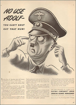 1944 WW 2 AD  No use Adolf You cant shut out that hum Electric Companies  110617