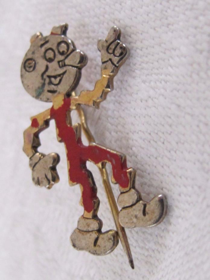 B13 Vintage Reddy Kilowatt Electric Company Promo Rare Lapel Pin