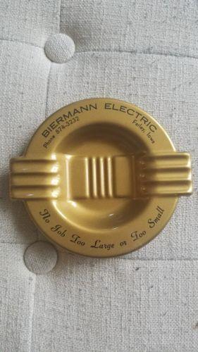 Vintage Biermann Electric Farley, Iowa Ashtray