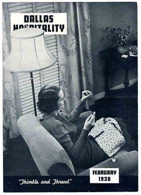 Dallas Hospitality Magazine February 1938 Dallas Power & Light Company Texas