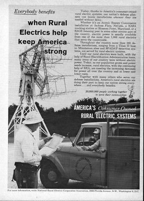 1965 Blossom Point Satellite Tracking Station Southern Maryland Electric Coop Ad