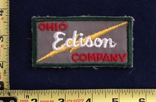 Vintage Ohio Edison Company Utilities Uniform Patch