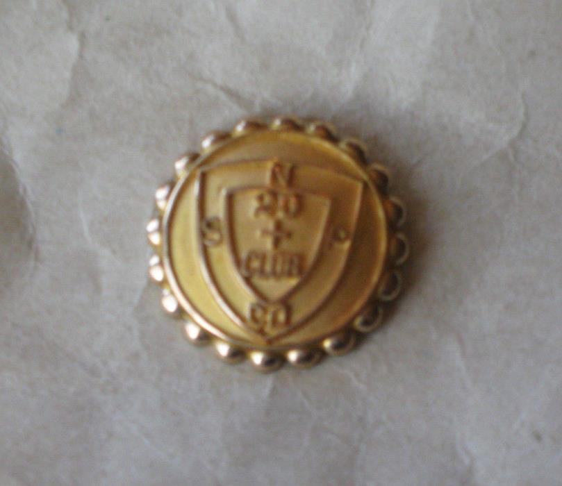 Vintage NSP 20 + Club Lapel Pin, Northern States Power