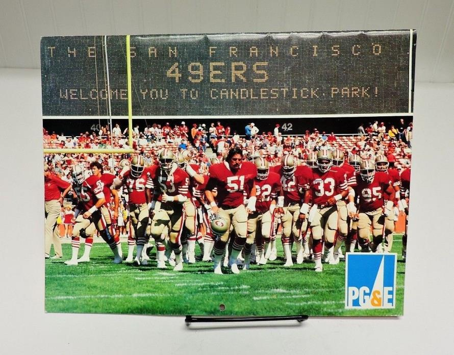 Rare! Collectible Vintage 87'/88' PG&E San Francisco 49er's Wall Calendar