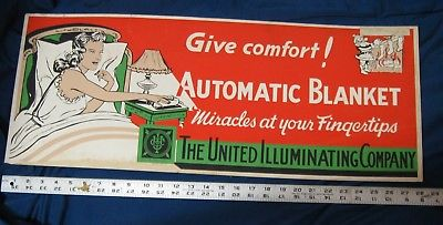 1945 United Illuminating Co. REDDY KILOWATT as Santa Claus Cardboard Sign, 28