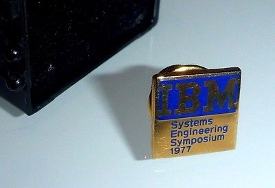 Vintage 10K Gold IBM Systems Engineering Symposium 1977 Lapel Pin