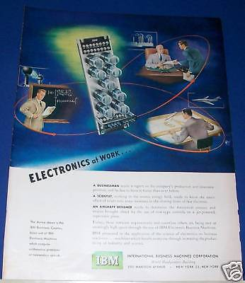 1950 IBM Computer Ad Electronics at Work