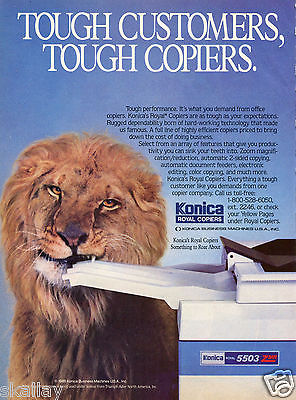 1986 Print Ad of Konica Royal 5503 Copiers Lion something to roar about