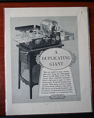 Vintage- Mimeograph duplicating office equ - magazine advertising 11 x 13 inches