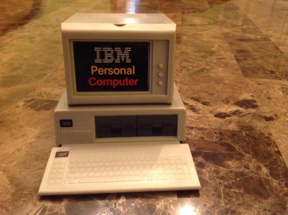 vintage IBM Personal Computer mini DESK CADDY 1983  - has 2 fun compartments !