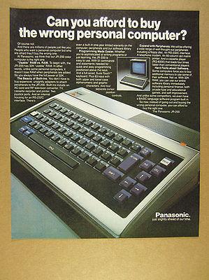 1983 Panasonic JR-200 Personal Computer keyboard photo vintage print Ad
