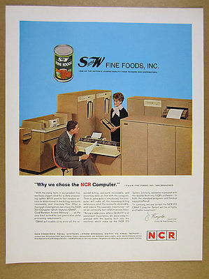 1962 NCR 315 Computer photo S&W Foods use vintage print Ad
