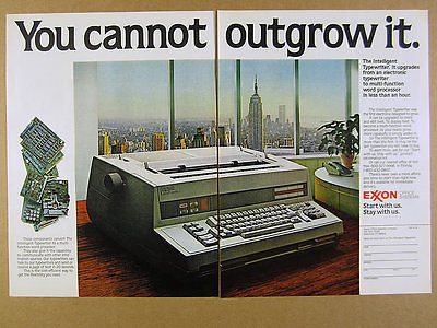 1981 Exxon Office Systems Intelligent Typewriter vintage print Ad