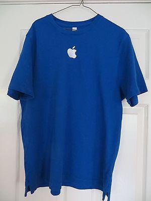 mens t shirt apple store Blue size L short sleeves 100% Cotton