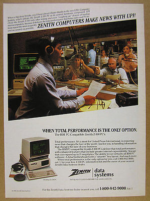 1984 Zenith Z100 PC UPI 1 United Press Intl Computer System vintage print Ad