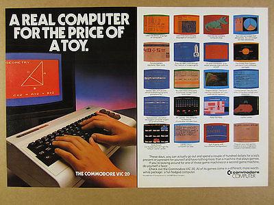 1982 Commodore VIC 20 Computer games programs screenshots vintage print Ad